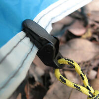 10pcs Camping Clips Tent Clamp Awning Outdoor Black Locking Tarp Easy To Carry