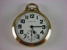 Antique original 16s Hamilton 992B Rail Road pocket watch 1946. 21 j. Very nice!