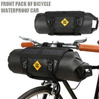 Waterproof Bike Bicycle Riding Front Tube Bag Handlebar Basket Pack Frame Pocket