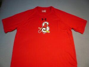 Under Armour Springfield Cardinals Logo Tech MEDIUM BRAND NEW shirt MiLB UA NWT