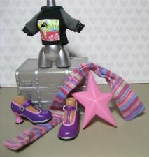 BRATZ WORLD TOKYO A GO GO Fianna DOLL 2004 Anime T-SHIRT MARY JANE SHOES SCARF++