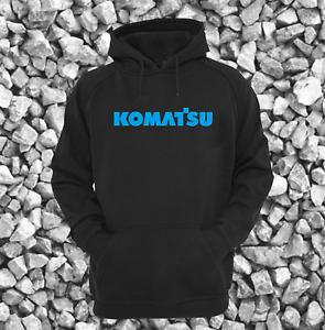 Komatsu PC210 Digger Excavator Bucket Black Heavyweight Hoodie All Sizes S - XXL
