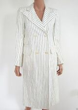 Vintage TED LAPIDUS BOUTIQUE Paris Double-Breasted Striped Coat 40 M FRANCE