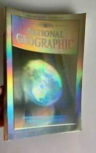 Vintage Dec. 1988 National Geographic 3D Hologram Earth Cover & McDonald's Back