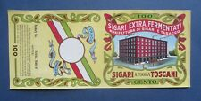 Original Old Vintage 1933 - SIGARI TOSCANI - CIGAR Can LABEL - Factory Building