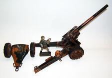 Tintoy, Tippco Langrohrgeschütz mit Protze, Feldhaubitze, Kanone + Artillerist.