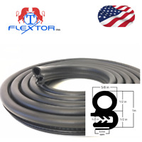 (14 feet) Rubber Car Door Seal Weatherstrip Body Mounted Front Left or Right