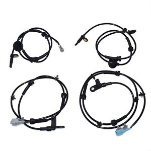 New Set of 4 Front Rear Left Right ABS Wheel Speed Sensor For Nissan Quest 04-09