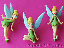 Tinkerbell Fata Glitter Ragazza Fantasia PETER PAN DISNEY dress It Up Bottoni Craft