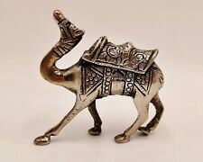 Vintage Pewter silver look Camel Figurine/Ornament-likely handmade