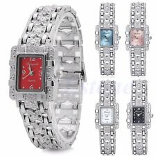 Fashion Women's Bracelet Bow Stainless Steel Silver Crystal Dial Quartz Watch