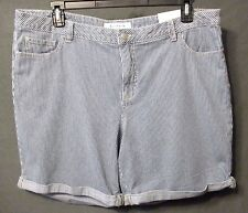 CROFT & BARROW JEAN SHORTS womens size 18 DENIM PINSTRIPE NWT s0071