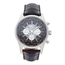 Breitling Transocean Unitime Chronograph Steel Auto Mens Watch AB0510U4/BB62