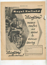 Royal Enfield Airflow Motorcycle Original Advertisement from a Magazine