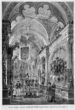 Stampa antica MILANO Museo Poldi Pezzoli Sala delle Armi 1891 Old antique print