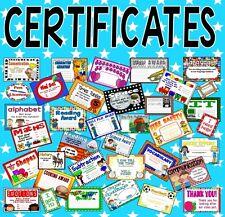 CD of CERTIFICATES (EDUCATION CHILDREN SCHOOL) TEACHING RESOURCES EYFS KS 1-2