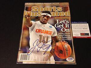 Jonny Flynn 2009 Sports Illustrated Magazine Mag Signed Auto PSA/DNA COA