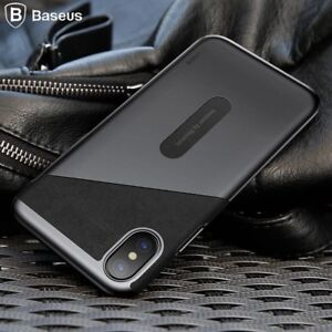 Baseus Luxury PU Lether Card Pocket Back Cover Wallet bag case  For iphone X XS