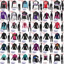 2019 Invierno Lana térmica Ciclismo Camiseta Pantalones Pantalones Set Mujeres Ropa De Bicicleta De Equipo