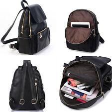 Women Girl's Backpack Travel PU Leather Handbag Rucksack Shoulder School Bag