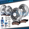 2010 - 2017 Expedition Navigator Front & Rear DRILL Brake Rotors + Ceramic Pads
