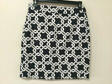 Banana Republic Womens Petite Size 2P Navy / White Pencil Skirt Above Knee