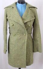 GUESS Tweed Wool Button Knee Length Jacket Long Pea Winter Coat Women's S