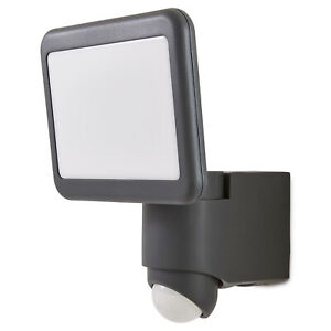 Blooma Outdoor Wall Light Delson Matt Charcoal Grey LED PIR Motion Sensor