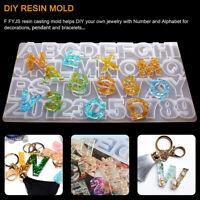 73pcs/set DIY Crafts Letter Mould Crystal Glue Alphabet Mold Silicone Molds