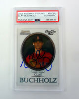 Clay Buchholz 2005 Bowman Sterling Signed Autograph RC PSA/DNA Slabbed COA