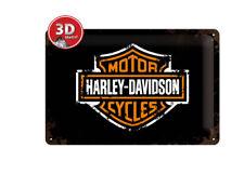 22138 Placa metálica 20x30 harley davidson nostalgic art coolvintage