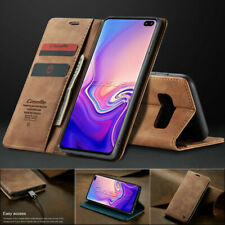 For Samsung Galaxy S10/S9/S8+ Plus Magnetic Flip Cover Leather Wallet Stand Case