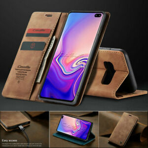 For Samsung Galaxy S20 Ultra/S10/S9/S8+ Plus Magnetic Cover Leather Wallet Case