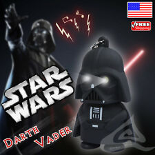 Star War Darth Vader Flashlight LED Light and Sound Keychain Key Ring Black US