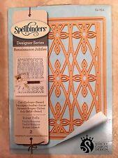 Spellbinder Designer Series -  Roman Trellis 2 DIES Set S4-654 ~ NEW