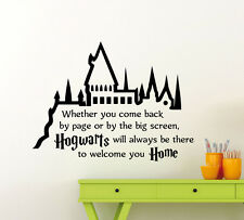 Harry Potter Wall Decal Hogwarts Quote Vinyl Sticker Kids Art - Wall decals harry potter