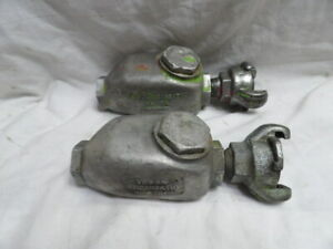 """Pair of USA made 1/2"""" In-line Pneumatic Oilers"""