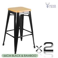 2x Tolix Bar Stool Replica Metal Kitchen Steel Chair Xavier Cafe Home Office