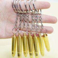 Bullet Keychain Keys ring Hidden Compartment Spoon Scoop Secret Storage
