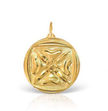 NEW ILIAS LALAOUNIS 2018 GOOD LUCK PENDANT, GOLD 750 - diameter 1,4cm (0,55 in)