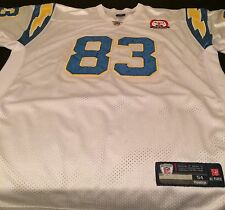 NFL SAN DIEGO CHARGERS VINCENT JACKSON STITCHED REEBOK JERSEY 50YR SIZE 54 (EUC)