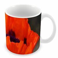 Mug Céramique Tasse Coquelicot Nature Rouge
