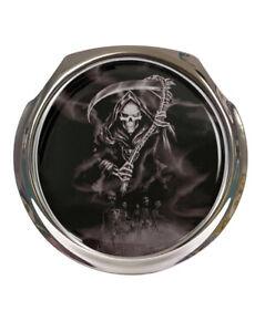 Grim Reaper Black & White - Car Grille Badge - FREE FIXINGS