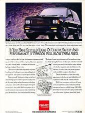 1992 1993 GMC Typhoon Original Advertisement Print Art Car Ad J566