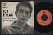 """7"""" BOB DYLAN THE TIMES THEY ARE A-CHANGIN' / SUBTERRANEAN HOMESICK BLUES ITALY"""