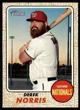 2017 Topps Heritage Derek Norris #51 Washington Nationals