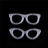 2pcs Glasses Metal Cutting Dies Stencil For Scrapbooking DIY Album Cards Deco_ti