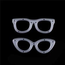 2pcs Glasses Metal Cutting Dies Stencil For Scrapbooking DIY Album Cards Decor~F