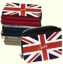 Personalised Ladies Union Jack Purse Add a Message/Name - Lovely Xmas Gift Woman