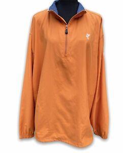 Ashworth golf jacket orange size XL